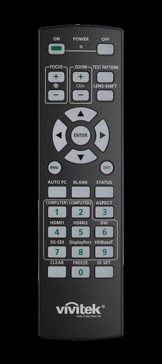 Vivitek Dh8190z Remote Lights Off