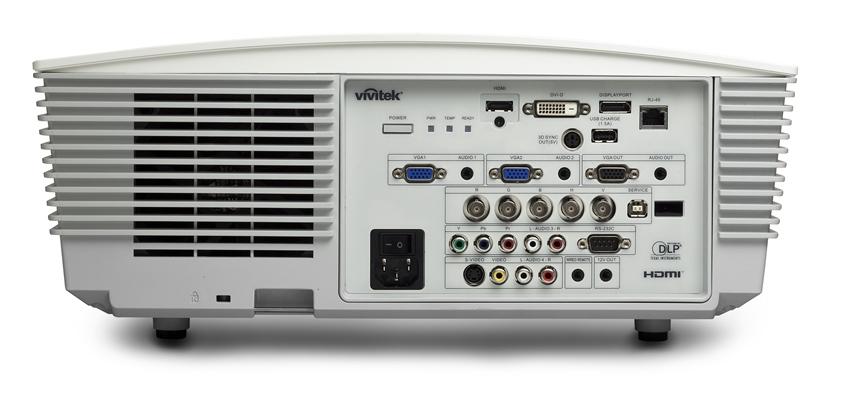 Vivitek D5380U White IO Ports HiRes